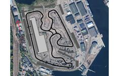 I designed a track in a random empty area. About Km : RaceTrackDesigns Go Kart Tracks, Race Tracks, Cad Drawing, Finish Line, Division, Empty, Automobile, How To Draw Hands, Racing