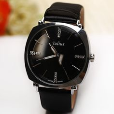 2016 New Korea Brand Julius Rhinestone Decorate Genuine Leather Strap Fashion Casual Ladies Quartz Wrist Watch Women Dress Watch - Online Shopping for Watches