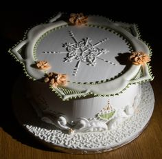 One of the two cakes made on the PME Royal Icing course.