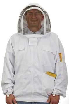 Little Giant Farm and Ag Jktm Medium Bee Keeper Jacket, Size: 12 inch x 13 inch x 3 inch, White Bee Suit, Insect Repellent Spray, Beekeeping Equipment, Beekeeping Supplies, Little Giants, Bee Keeping, Dom, Medium, Walmart Shopping