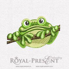 Machine Embroidery Design - Frog (3 in 1) | Reptiles Collection – Royal Present Embroidery – Machine Embroidery Designs