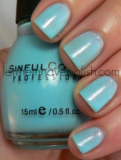 Sinful Colors - Cinderella, love this frosty blue!