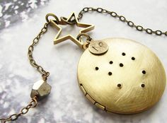 Capricorn Zodiac constellation necklace - constellation zodiac jewelry December January birthday