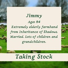 Taking Stock: Jimmy ⁠ Jimmy is 84. He also appears in Inheritance of Shadows, set fifty years earlier. He's a horny-handed son of the soil. ⁠ books2read.com/takingstocklester ⁠#GayRomance #MMRomance #Disability #HurtComfort