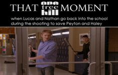 Lucas and Nathan, even though it was sad I liked that Lucas and Peyton were together.