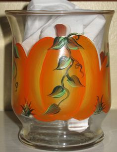 Pumpkin Glass Candleholder by Me