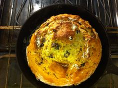Irish Soda Bread with culinary lavender, baked in cast iron skillet!