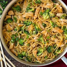 This Chicken Chow Mein is just like what you get at your favorite Chinese restaurant but it's made at home in under 25 minutes! This is a simple and satisfying entree that is sure to please. It's a versatile recipe and if you want to keep it more traditional you can add in bean sprouts, or for more textures you could