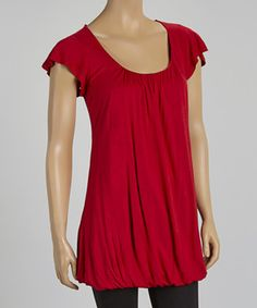 Loving this Red Cross-Back Bubble Tunic on #zulily! #zulilyfinds