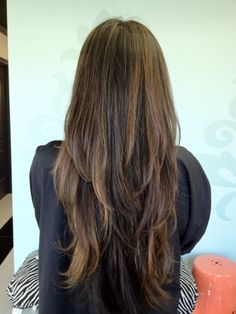 long hair with layers blown out