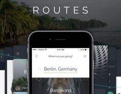 """Routes iOS UI Kit by Beans UI Goods"" http://be.net/gallery/32711351/Routes-iOS-UI-Kit-by-Beans-UI-Goods"