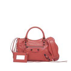 Rose Corail Balenciaga Classic Mini City - Women's Gifts  #Balenciaga #handbags Visit www.balenciaga.com