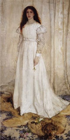 Symphony in White no.10: The White Girl - Portrait of Joanna Hiffernan - James McNeill Whistler - 1862