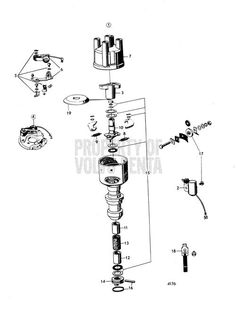 9 best volvo penta images volvo engineering boating 2001 Volvo S60 Starter exploded view schematic