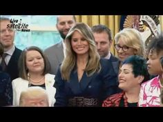President Trump with Melania Take Part in National Teachers Event / Award