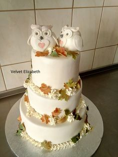 Bride Dianka Wanted Your Wedding Cake in Autumn Tone + Favored Owls ... This Beauty Gives You 12kg, Corp Chocolate Almond ... Chocolate Cream And A Lot Of Chestnut Cream .... Dianka and Lacko I Wish You a Lot of Love Today you...