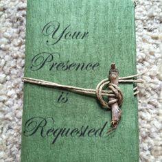 My earthy wedding invitations!