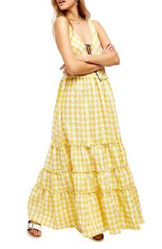 Free People Beach Club Sleeveless Maxi Dress   Nordstrom Day Dresses, Evening Dresses, Summer Dresses, Light Yellow Dresses, Maxi Styles, Beach Club, Nordstrom Dresses, Free People Dress, Ideias Fashion