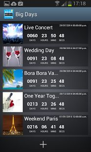 Big Days of Our Lives Countdown Clock provide you best countdown aap to count your due date, wedding,  holiday, halloween, disney, wedding days etc, every second  minutes and hours remain at best price.