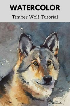 Watercolor Timber Wolf Tutorial: How to Paint with Watercolor - Painting Tutorials Watercolor Wolf, Watercolor Animals, Watercolour Painting, Painting & Drawing, Watercolours, Simple Watercolor, Watercolour Tutorials, Watercolor Techniques, Painting Tutorials