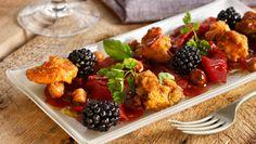 Reinsdyrcarpaccio med sopp og bjørnebær - Reindeer carpaccio with mushrooms and blackberries
