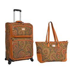 "Adrienne Vittadini 2-Pc Paisley Luggage Set, 21"" Spinner ... https://www.amazon.com/dp/B06XG5JKR5/ref=cm_sw_r_pi_dp_x_NsObzbM8RCBRD"
