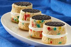 Festive Oreo Whoopie Pies.  Great for young football fans!