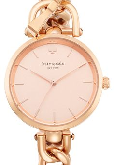 How pretty is this delicate rose gold Kate Spade watch?