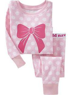 NEW Girl Old Navy Bow Pink Sleep Set Pajamas Toddler christmas pj 2 piece Baby Girl Pajamas, Cute Pajamas, Girls Pajamas, My Baby Girl, Little Girl Outfits, Toddler Outfits, Kids Outfits, Teen Girl Fashion, Kids Fashion