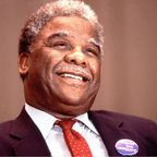 Harold Washington (4/11/922 - 11/22/1967) got his start in politics in the Illinois House of Representatives, where he represented the state's 26th District from 1965 to 1976. He went on to serve in the Illinois Senate from 1977 to 1980, and then became a member of the U.S. House of Representatives (1981-83), representing Illinois' 1st District. In 1983, Washington became the first African-American mayor of Chicago, despite a number of minor scandals.