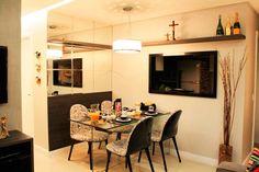 Sala de jantar de um apartamento de 60 m², em Fortaleza. Projetado por Studio Toca.