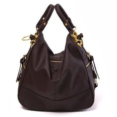 Casual & Vintage  Anju - Ladies fashion coffee shoulder handbag