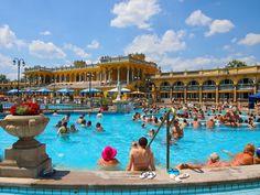 Szechenyi Baths in Budapest, Hungary