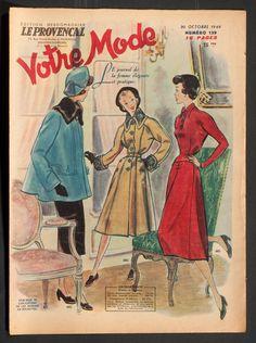 'VOTRE MODE' FRENCH VINTAGE NEWSPAPER 20 OCTOBER 1949 | eBay