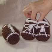 Football and Baby Booties - Great site for patterns
