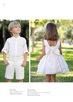 AMAYA SPRING SUMMER 2016 ceremonia Spring Outfits, Boy Outfits, Girls Dresses, Flower Girl Dresses, Page Boy, Little Fashionista, Bridesmaid Dresses, Wedding Dresses, Baby Dress