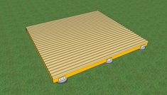 Diy step by step article about how to build a deck on the ground. Building a deck on the ground or a floating deck is easy if you use the right tips and plans. Cool Deck, Diy Deck, Pergola Patio, Pergola Plans, Pergola Ideas, Backyard Patio, Backyard Ideas, Deck Landscaping, Backyard Cottage
