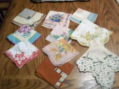10 lot collection Vintage Hankies printed by mypicketfencecottage