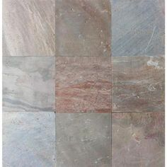 MS International Copper Fire 16 in. x 16 in. Honed Quartzite Floor and Wall Tile (8.9 sq. ft. / case)-SCOP1616HG - The Home Depot