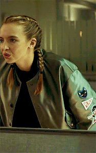 Villanelle on Killing Eve season 1 in a satin Miu Miu bomber jacket Eve Show, Insta Baddie, Bella Hadid Style, Jodie Comer, Just Girl Things, Movie Costumes, Villa, Actors & Actresses, Fashion Beauty