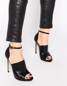 81382f4599b02 Image 1 - Truffle Collection - Rita - Chaussures à talon peep toe avec  bride cheville