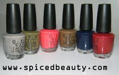 OPI Touring America collection swatches Fall 2011