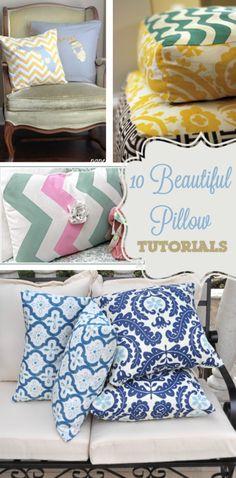 10 #DIY Pillow Tutorials via @Diana Avery Avery {the girl creative} | Ruffle Pillows and Home Decor Ideas from @Diana Avery Avery {the girl creative}