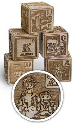 Mad scientist baby blocks. Love these!!!