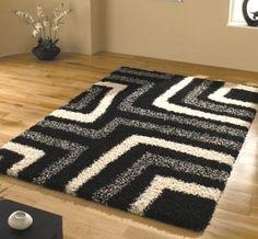 Black and White Carpet Always in Trend : Black And White Shag Carpet. Black and white shag carpet. Shag Carpet, Beige Carpet, Diy Carpet, Patterned Carpet, Rugs On Carpet, Black Carpet, Black And Grey Rugs, Bathroom Rugs, Bath Rugs