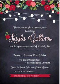 I love looking at fancy invites now and realizing--I could DO THAT!  Love these twinkle lights and how they're paired with flowers!