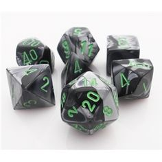 Gemini Dice Black and Grey