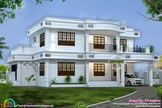 New Home Design 2019 Kerala Indian House Plans, My House Plans, Modern House Plans, Classic House Design, Simple House Design, Modern House Design, Architect Design House, Bungalow House Design, Village House Design