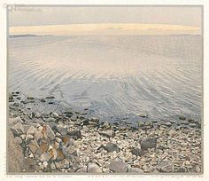 ~ Siemen Dijkstra - Helnaes, state of well-being. 1999, woodcut