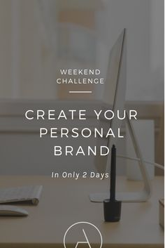 "Create Your Personal Brand in Only 2 Days. Take the Weekend Branding Challenge » Then get more personal branding tips & business branding ideas from my ""Simplify Your Brand"" e-course @ ajaedmond.com/branding"